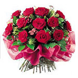 Bouquet with Red Roses